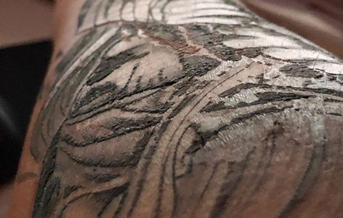 Tattoo Scabbing Process gone healthy