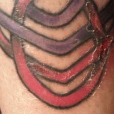 Tattoo scabbing looking good